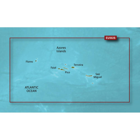 Garmin BlueChart® g3 Vision® HD - VEU502S - Azores Islands - microSD™-SD™