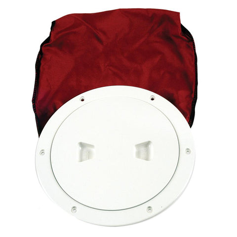 "Beckson 6"" Stow-Away Deck Plate - White w-12"" Bag"