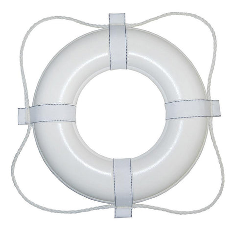"Taylor Made Foam Ring Buoy - 30"" - White w-White Rope"