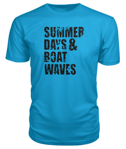 Summer Days And Boat Waves Premium Tee