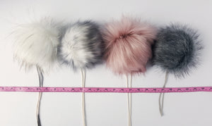 Faux Fur Poms - Deluxe Rose