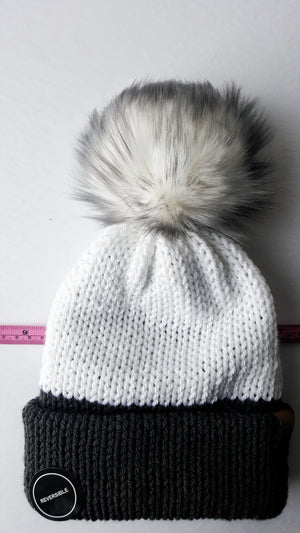 Faux Fur Poms - Candy Grey