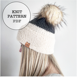 Knit Pattern: Double Brim Beanie Combo Pack