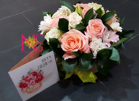 Blushing Garden Flowers Box