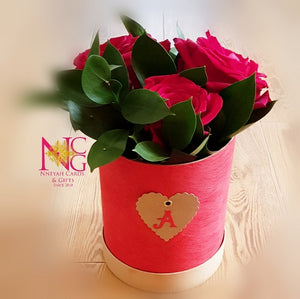 Hat Box Roses - Personalized