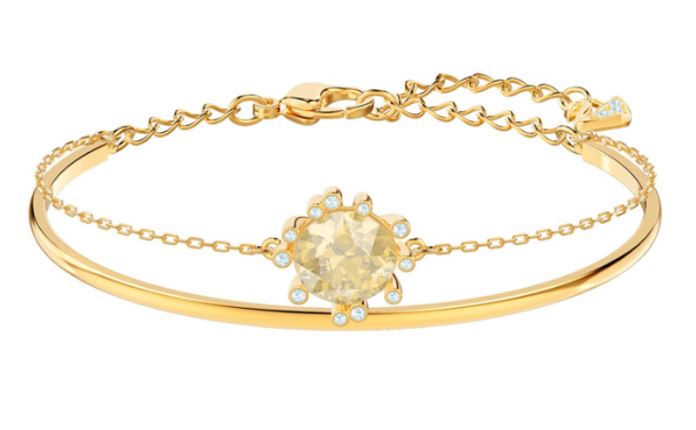 Swarovski Gold Bangle