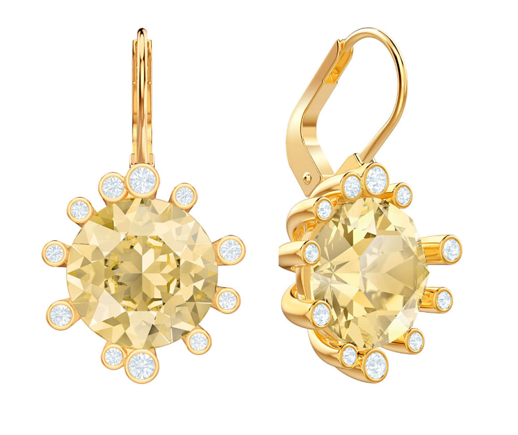 Swarovski Gold Earrings