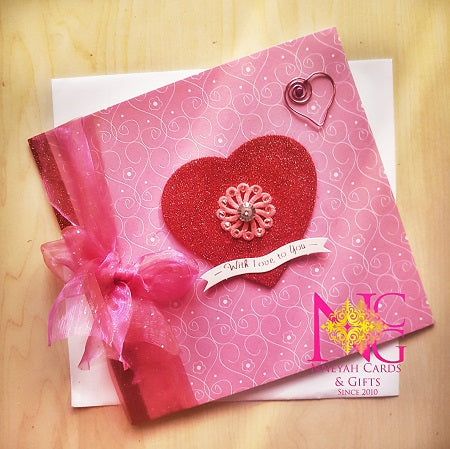 Swarovski Love Card