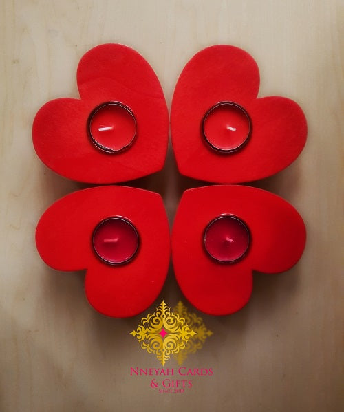 Red Heart Tealight Holder