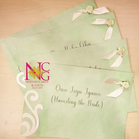 Trad Wedding Envelope