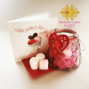 Sweet Love Candy Jar & Card