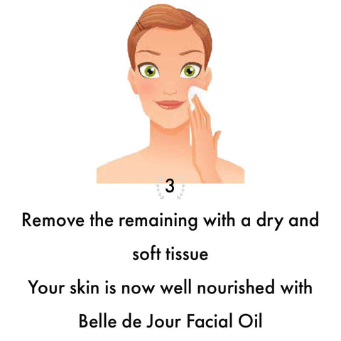 how to apply Belle de Jour Facial Oil