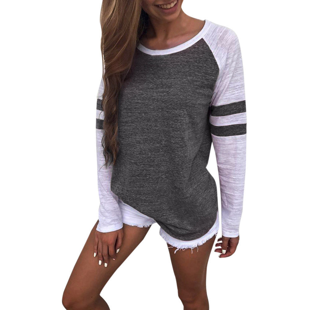 Women's Casual Splice Top Tee