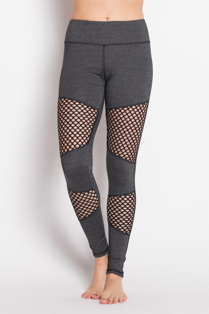 Stylish mesh workout high performance Leggings
