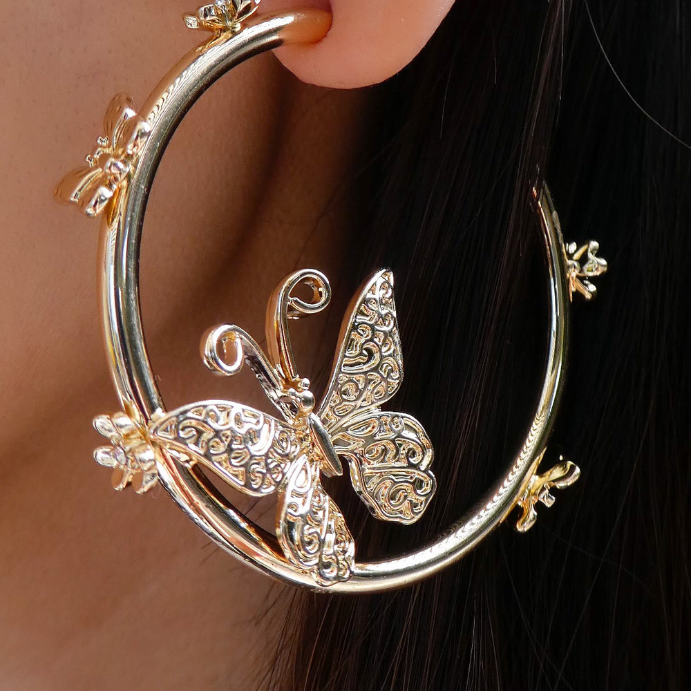 Lillie Butterfly Hoops