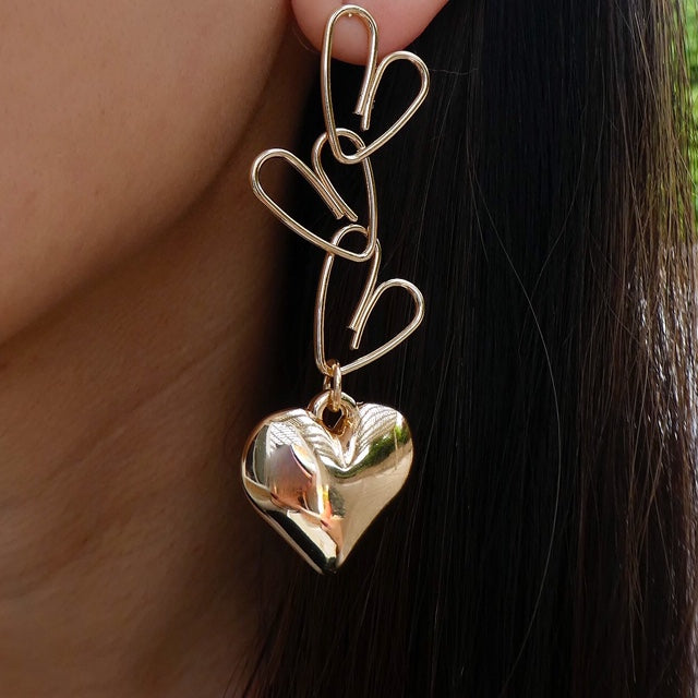 Marigold Heart Earrings