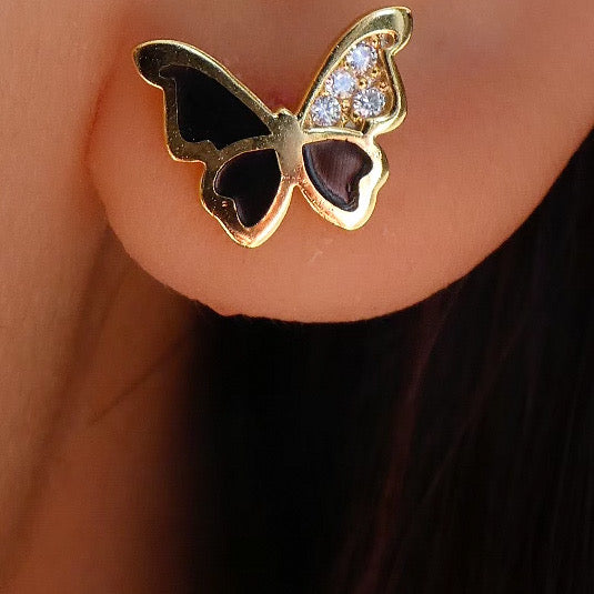 18K Chloe Butterfly Earrings