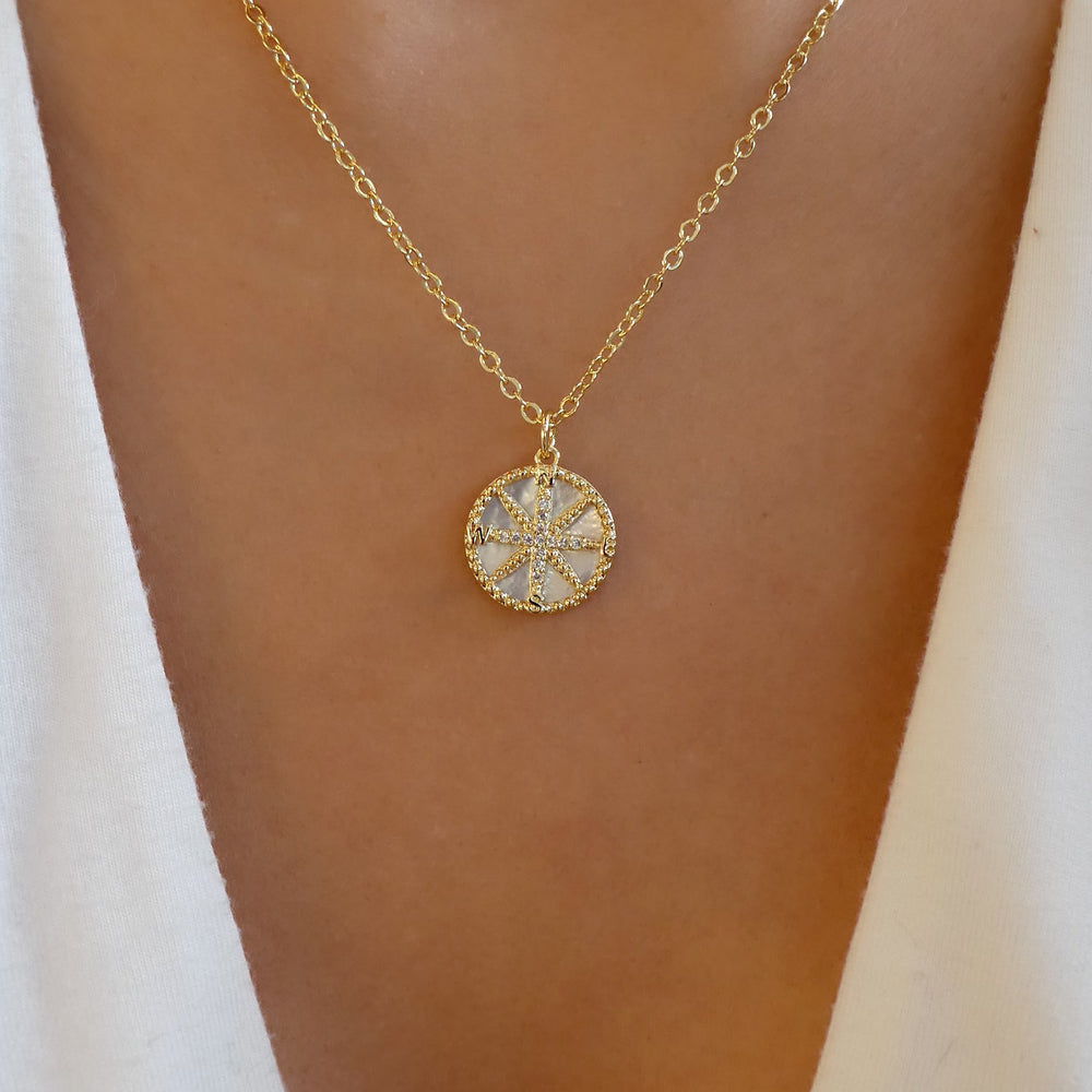 Crystal Star Coin Necklace