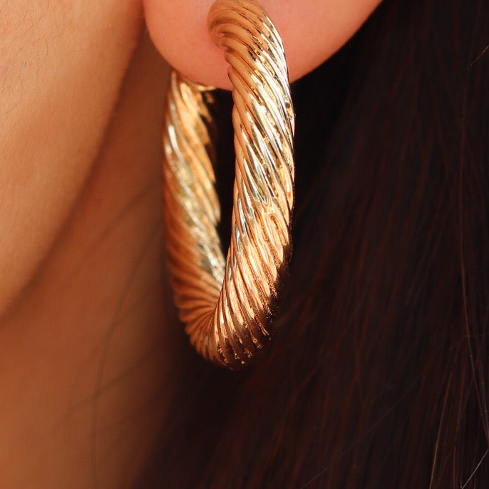 Twisted Ava Hoops