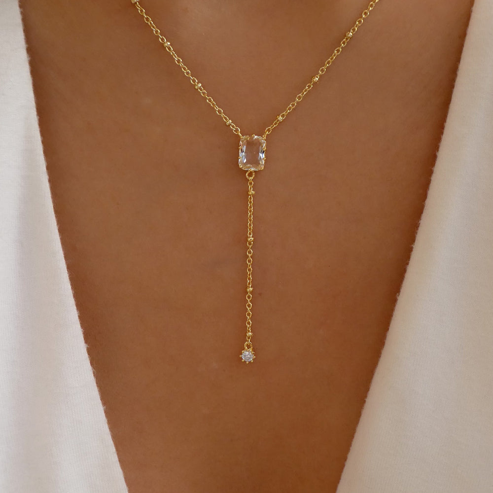 18K Lily Drop Necklace