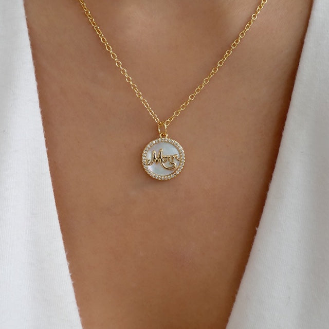 Mom Coin Necklace