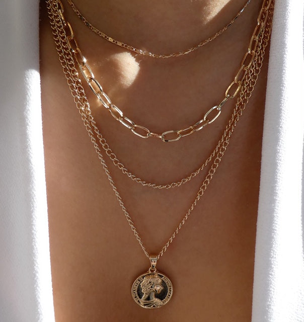 Donovan Coin Necklace Set