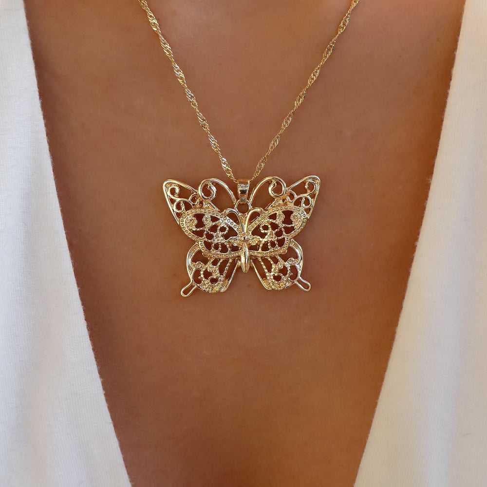 Embellished Butterfly Necklace