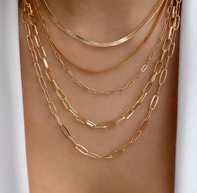Morra Chain Necklace Set