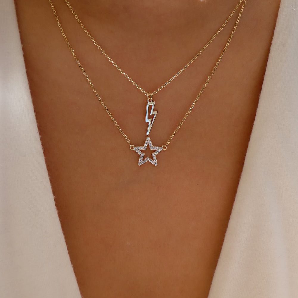 Sailor Star & Lightning Necklace