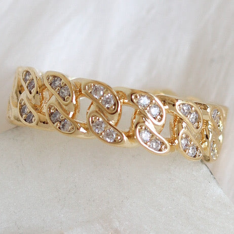 Crystal Dixon Chain Ring