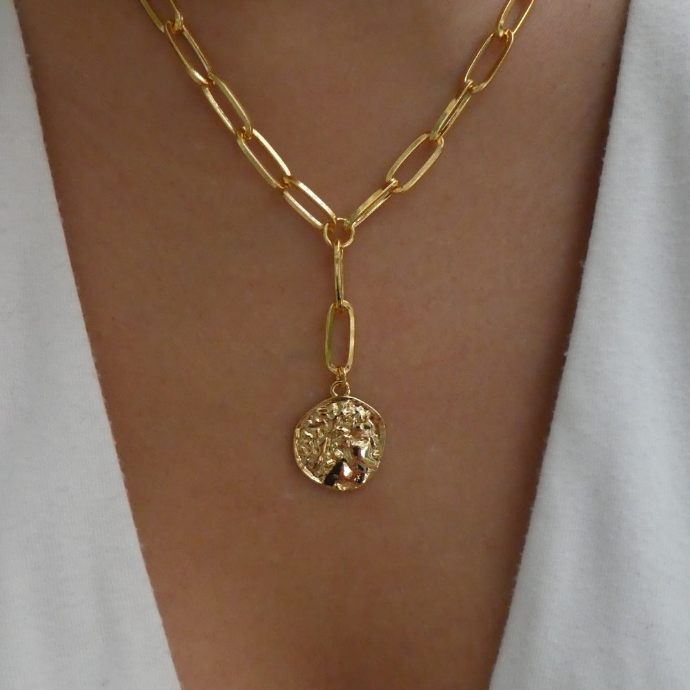 18K Coin Drop Necklace