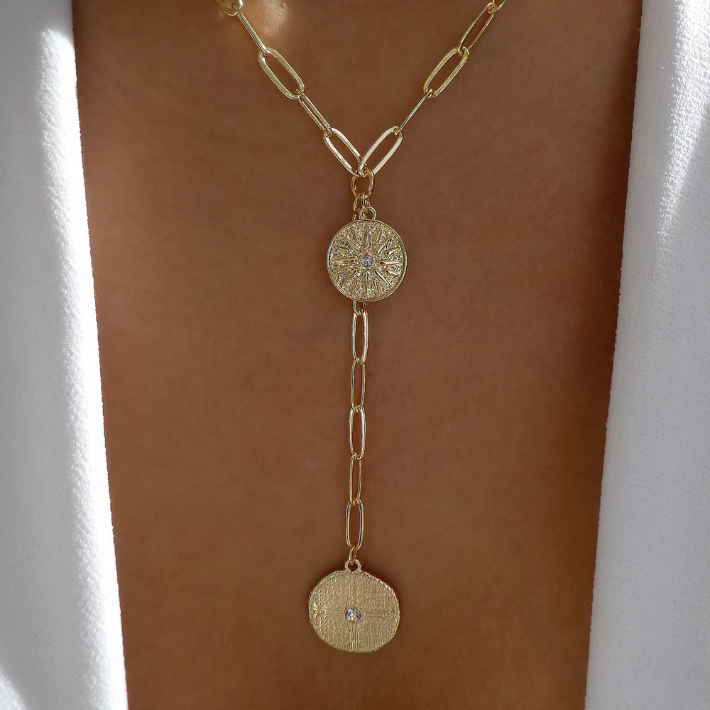 Leon Coin Drop Necklace