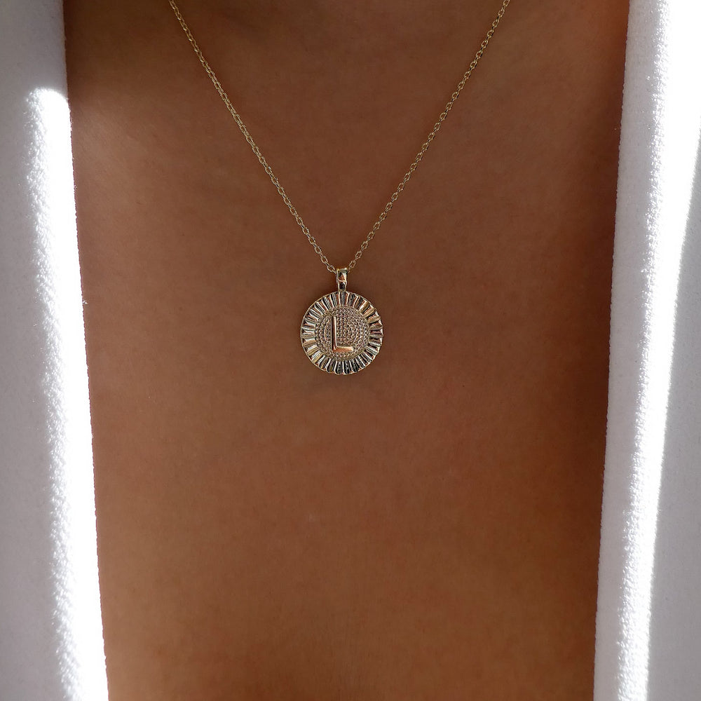 Letter Coin Necklace (L)