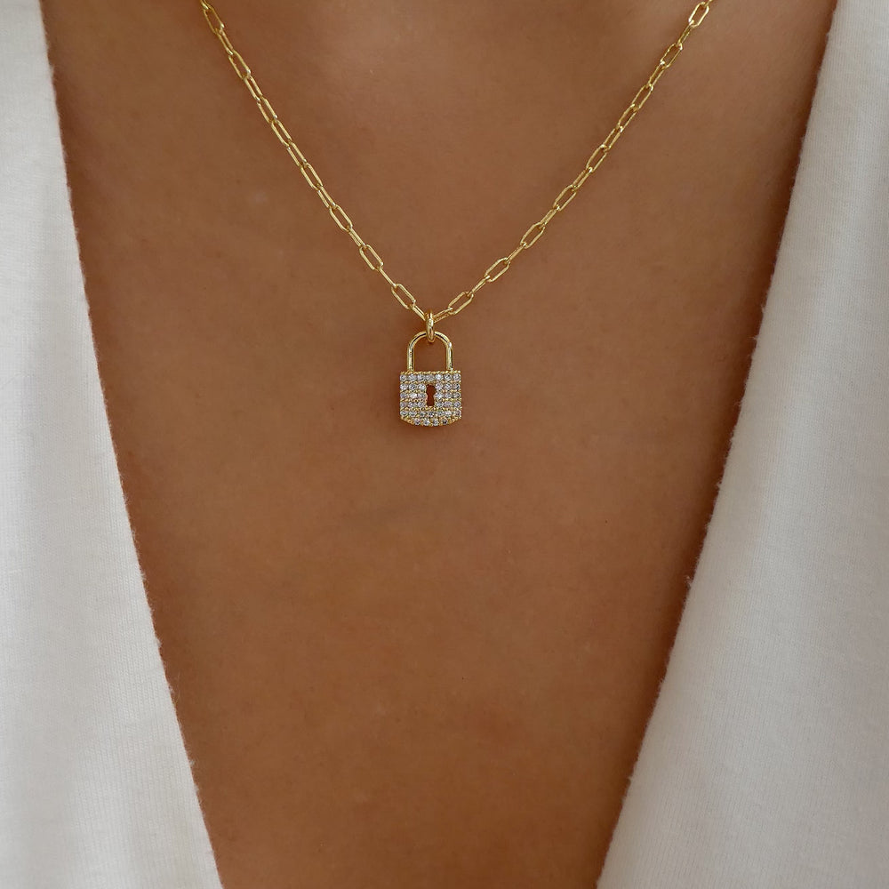 Crystal Loffie Lock Necklace