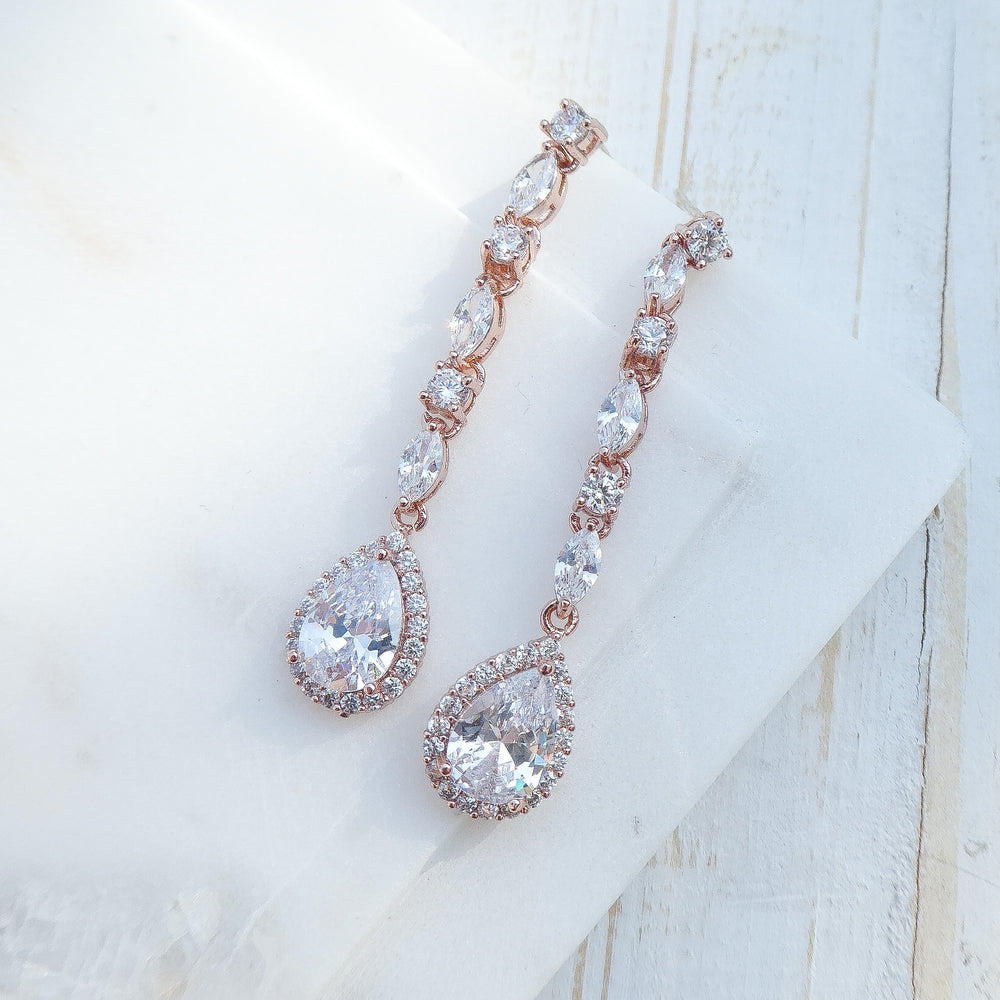Rose Gold Trinity Earrings