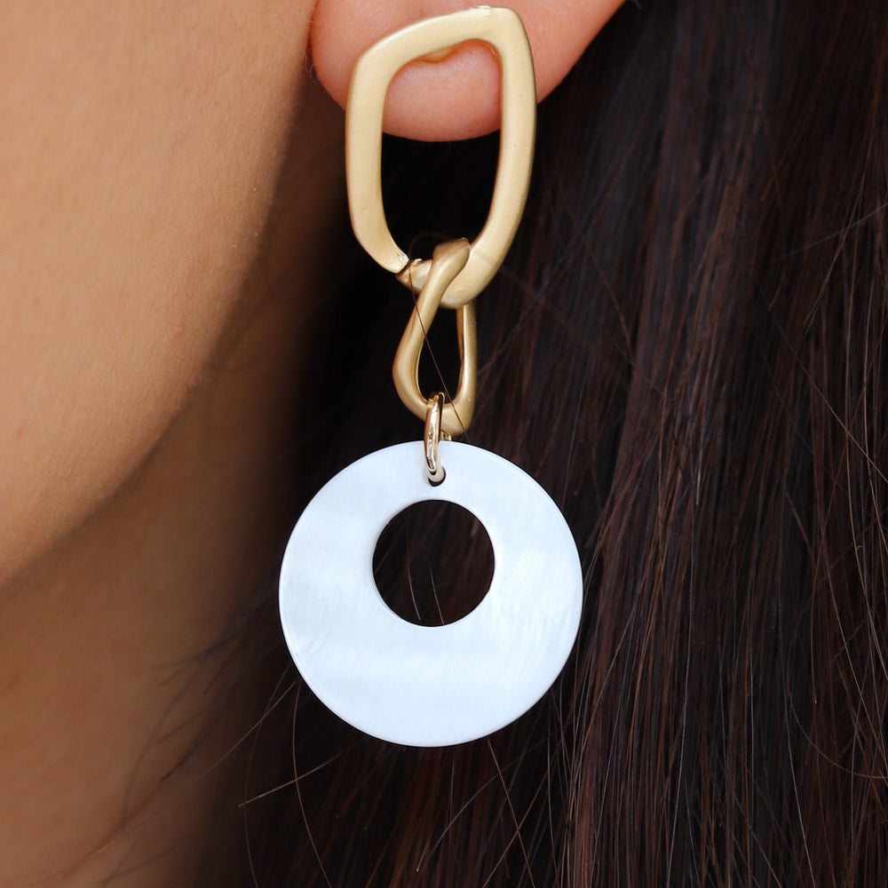 White Steph Earrings