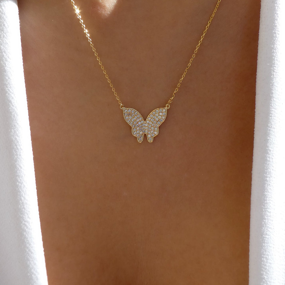18K Martha Butterfly Necklace