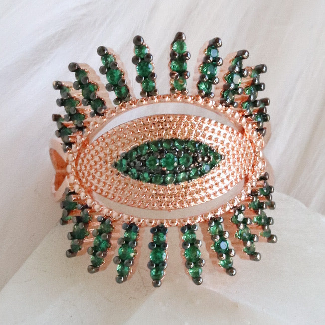 The Evil Eye Ring (Rose Gold)