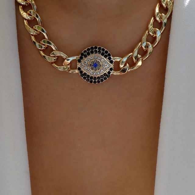 Eye Chain Necklace