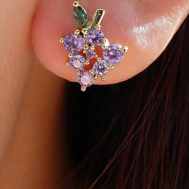 Mini Grape Earrings