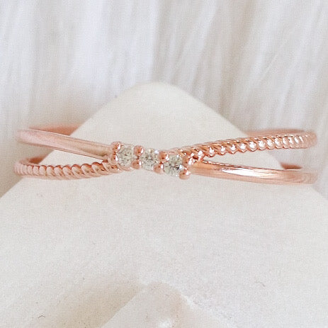 Crystal Keller Ring (Rose Gold)