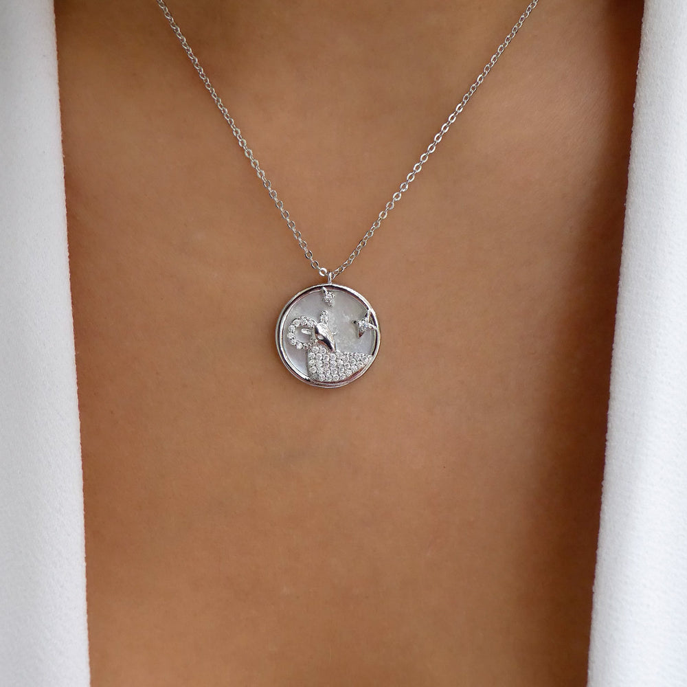 Silver Ali Zodiac Necklace (Capricorn)