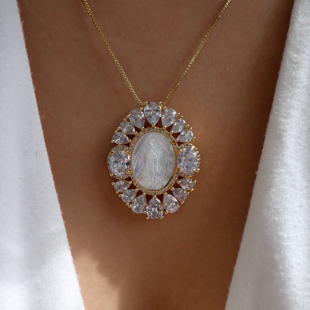 The Crystal & Mary Pearl Necklace