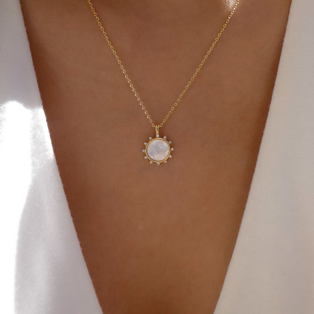 18K Sun Necklace