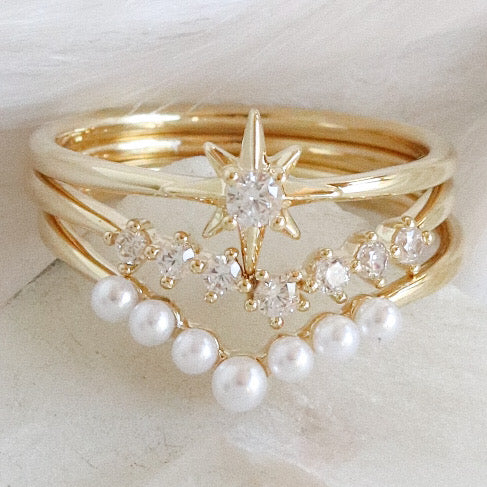 Sammy Pearl Ring Set