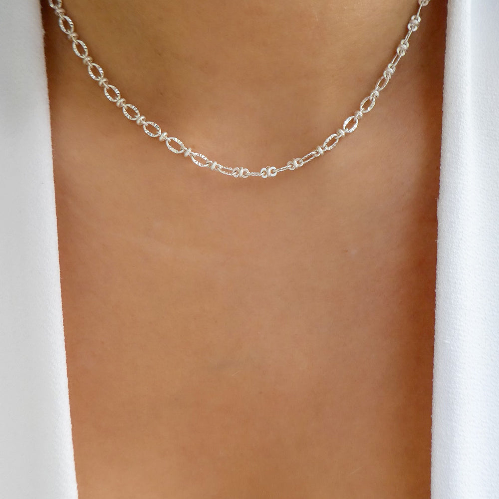 Silver Tristan Link Necklace