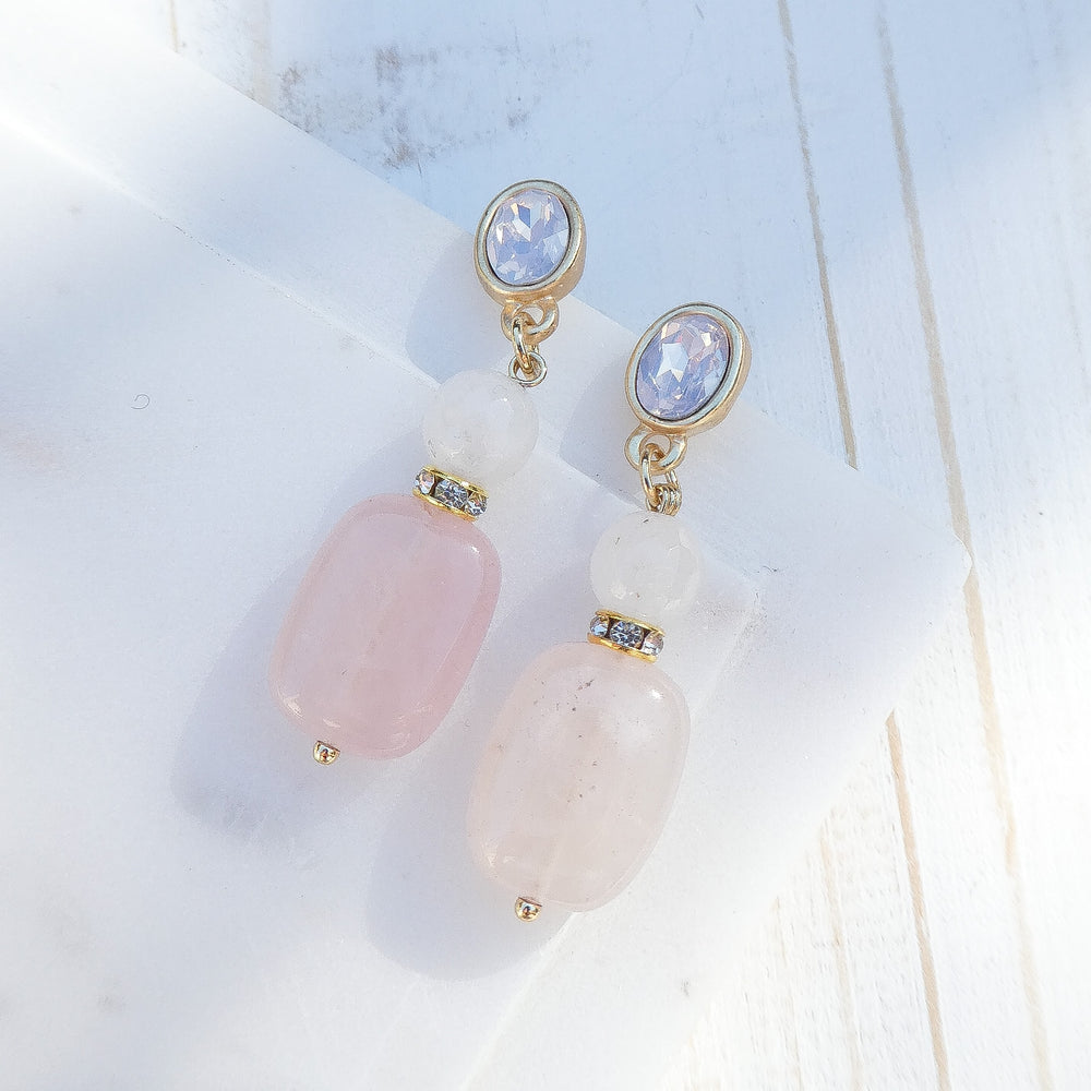 Pink Clarisse Stone Earrings