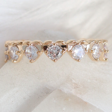 18K Crystal Line Ring