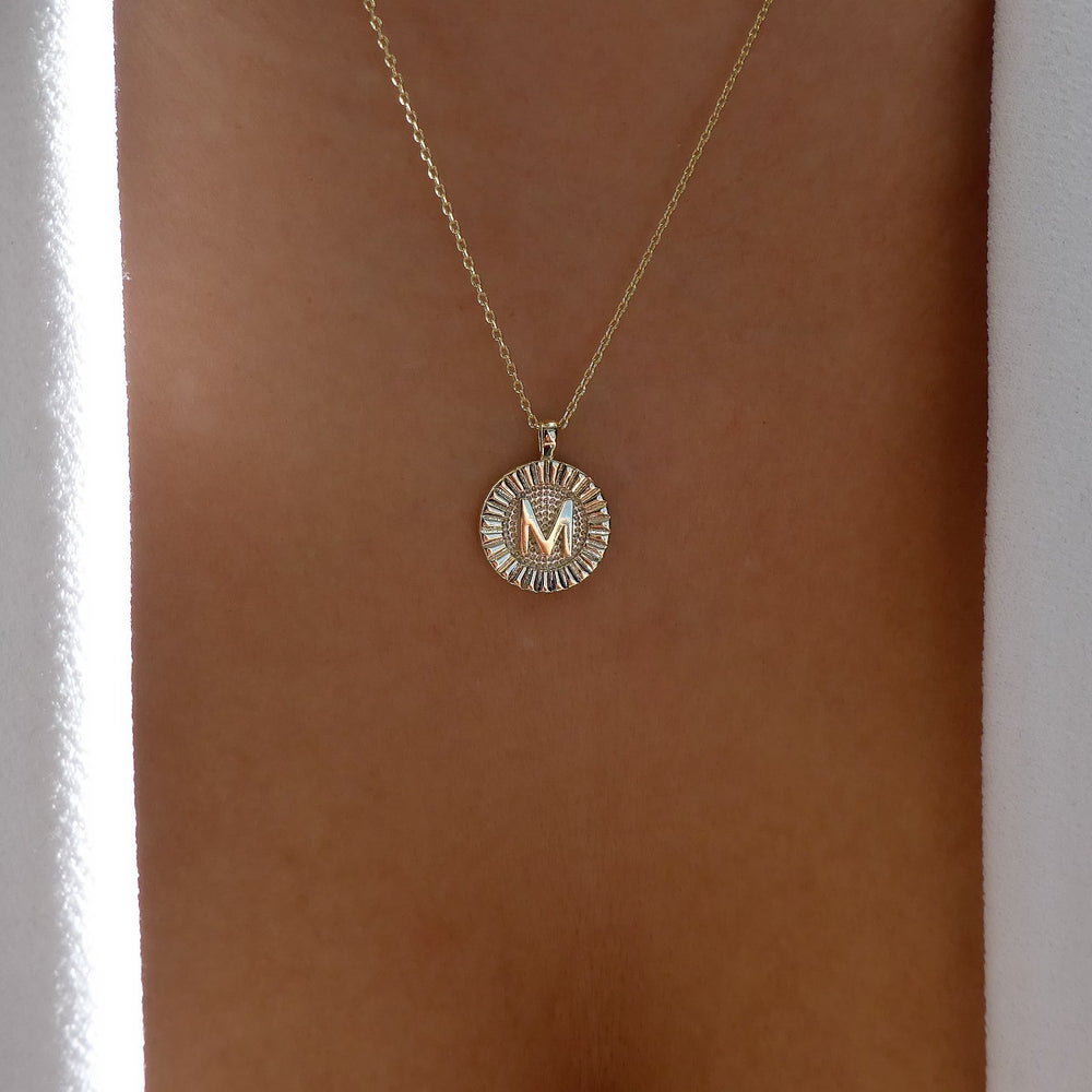Letter Coin Necklace (M)