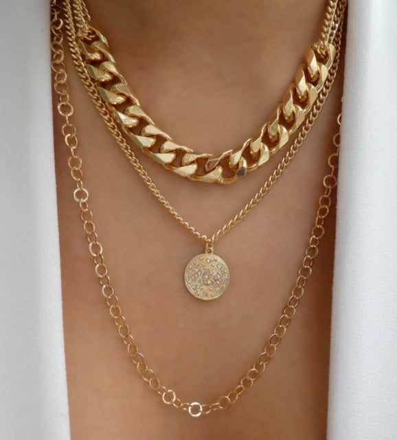 Marissa Eye Coin Necklace